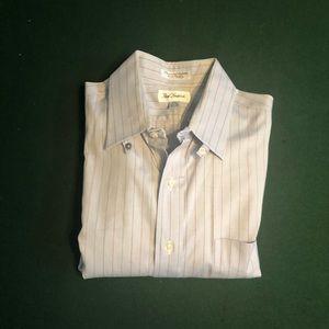 Paul Frederick Tab Collar Pinstripe Shirt EUC